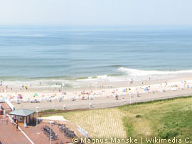 Strandpanorama in Westerland